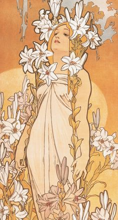 47 Ideas vintage flowers illustration art nouveau alphonse mucha for 2019 Fleurs Art Nouveau, Motifs Art Nouveau, Art Nouveau Mucha, Design Art Nouveau, Alphonse Mucha Art, Art Nouveau Poster, Poster Art, Mucha Artist, Art Nouveau Tattoo