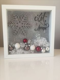 Christmas Let it snow - Picture Frame - Frame . - Ribba Christmas Let it snow – picture frame – Frame -Ribba Christmas Let it snow - Picture Frame - Frame . - Ribba Christmas Let it snow – picture frame – Frame - Homemade Christmas, Diy Christmas Gifts, Christmas Projects, Holiday Fun, Christmas Holidays, Christmas Ideas, Christmas Shadow Boxes, Christmas Frames, Christmas Signs
