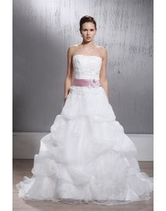 Fantastic Strapless A-line Chapel Ruched Veronika's Wedding Dress 2013 New Style