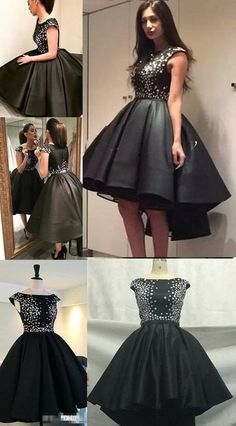 Cute Sparkly Black Homecoming Dresses Prom Dress For Teens Homecoming Dress Sweet,YY375