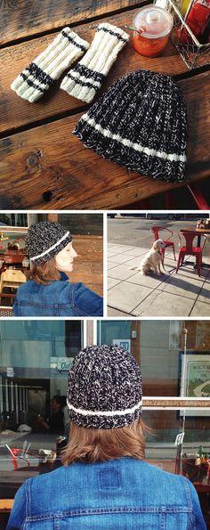 Stadium Hat free knitting pattern // Fringe Association