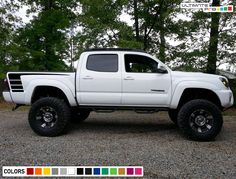 Details about Decal Sticker Side Door Stripes for Toyota Tacoma Off-Road Grille Lift Kit TRD - Today Pin Toyota Tacoma 2004, Toyota Tacoma Bed Cover, Toyota Tacoma Off Road, Tacoma Trd, Toyota Trucks, Chevy Trucks, Toyota 4runner, Toyota Cars, Lifted Trucks