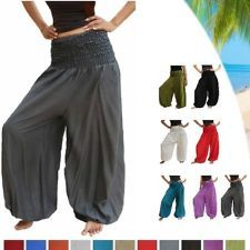 HAREM PANTS extra large plus size trouser wide leg baggy palazzo elasticated fit