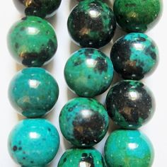 You will get 15 1/2 (28 beads) of Chrysocolla beads.  Reconstituted Chrysocolla Beads, bead size 14 mm, hole size 1.2 mm, weight 92 g, price for 1 strand (15 1/2 inch), approx. 28 beads. Color enhanced.