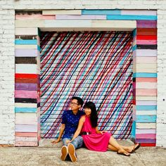 Garage Door Stripes Atlanta Beltline Art (+ Best Places to Take Pictures in Atlanta) // localadventurer.com