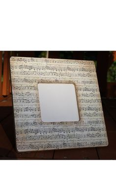 Music Picture Frame by TipToeDesign on Etsy, $10.00