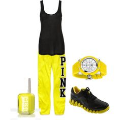 pink! gym outfit :)