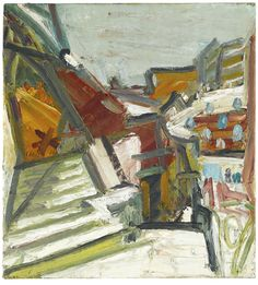 Frank Auerbach | The Studios Under Snow, oil on canvas. Sotheby's