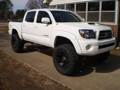 Super White Tacoma - XD Monster Rims - black