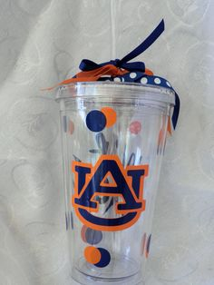 #Auburn University #WarEagle double-insulated acrylic #tumblers in my Etsy shop.  $10.00
