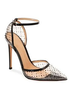 Shop designer heels and pumps at Neiman Marcus. Fall in love with these studded and crystal embedded ankle wrap pumps. Stilettos, Stiletto Heels, High Heels, Pump Shoes, Shoe Boots, Shoes Heels, Shoes Uk, Dsw Shoes, Fall Shoes
