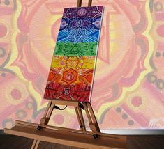 7 Chakras canvas painting by LittlePlantShop on Etsy Chakra Painting, Chakra Art, Chakra Healing, Ancient Mysteries, Mini Canvas, Mini Paintings, Mandala Art, Cosmic, Outdoor Blanket