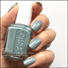 "Essie ""Mooning"" from the Wild Nudes Collection 2017 - dusty sage green #nail polish / lacquer / vernis 