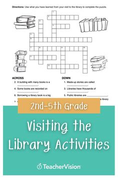 Visit the library with your class, and use the activities in this printable to teach your students how to use a card catalogue! This library printable is perfect for 2nd-5th grade teachers. Reading Resources, Reading Skills, 5th Grade Teachers, Cross Curricular, Thing 1, Library Books, Graphic Organizers, 5th Grades, Learn To Read