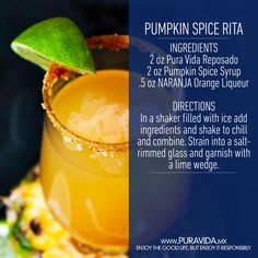 Ditch the #PSL for a #Pumpkin Spice Rita #cocktail #recipe
