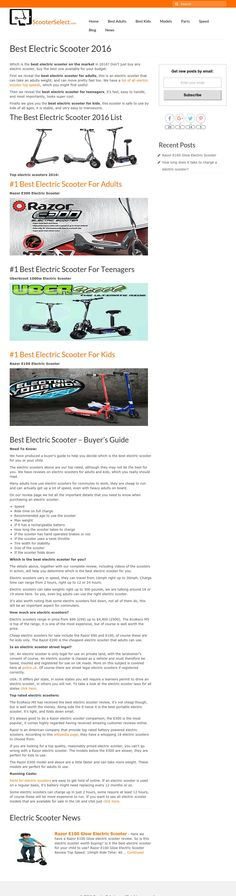 Get Feedback for Your Website - Criticue.com Best Electric Scooter, Website