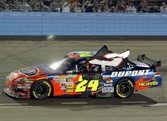 Jeff Gordon's 76th Cup win tied Dale Earnhardt Sr. for sixth on the all-time list. Gordon did a victory lap with a No. 3 flag in tribute to Earnhardt  (www.sportsillustrated.cnn.com -- Photo by AP)