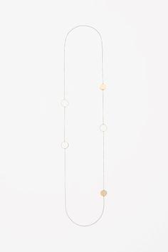Metal disk necklace