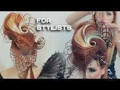 Фантазии стилиста/ Создание образа/ Подиумные прически/ - YouTube