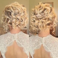 Soft romantic bridal updo #hairandmakeupbyemily