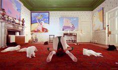 Miriam Karlin mit Katzen