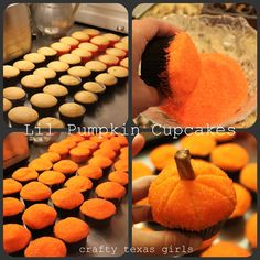 Pumpkin party cupcakes (Crafty Texas Girls)