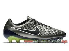 timeless design aba03 581e8 Nike Magista Opus FG Chaussure de football pour terrain sec pour Homme  649230 010 Vert Noir-