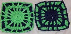 Spider web crochet squares--make them black and orange for Halloween.