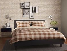 Łóżko czarne Matis 140×200 Teak, Comforters, Blanket, Furniture, Design, Home Decor, Creature Comforts, Quilts, Decoration Home