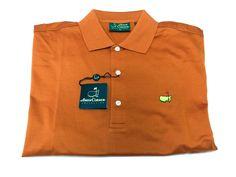 Amen Corner Augusta National Masters M Golf Shirt Pumpkin Orange Polo NEW NWT #AmenCorner #PoloShirt