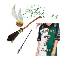 """""""Slytherin: Quidditch"""" by the-shadow371 on Polyvore"""