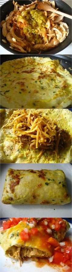 Chicken Egg Wrap Burrito Recipe