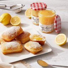 Dusted with powdered sugar and filled with our versatile and joyfully sweet Bonne Maman Lemon Curd, these lemon beignets are absolutely delicious and perfect for treating your loved ones! Recipes Using Lemon Curd, Recipe Using Lemons, Lemon Curd Recipe, Lemon Recipes, Donut Recipes, Bread Recipes, Just Desserts, Delicious Desserts, Dessert Recipes