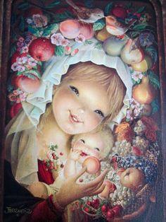 Virgen y Niño de las frutas