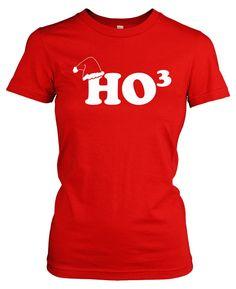 Womens Ho To The Third T Shirt Funny Christmas Hohoho Tee for women