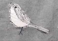 Machine Embroidery Machine Embroidered Bird Jen Moules Textile Design More - Freehand Machine Embroidery, Sewing Machine Embroidery, Hand Embroidery Tutorial, Bird Embroidery, Free Motion Embroidery, Free Machine Embroidery Designs, Fabric Birds, Fabric Art, Textiles