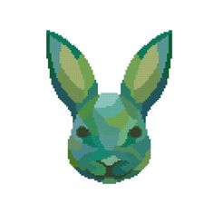 Counted Cross Stitch - Modern Cross Stitch Pattern - Geometric Design - Rabbit Cross Stitch - Abstract Wall Decor - Instant Download PDF by StitchyLittleFox on Etsy