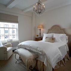 Beige Tufted Headboard, Transitional, Bedroom, B Moore Design