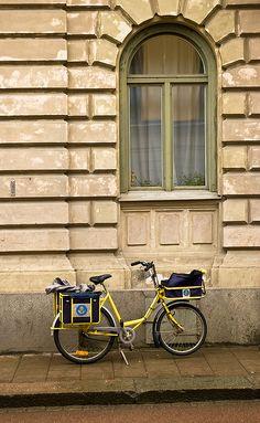 postman's bicycle by Georgios Karamanis, via Flickr