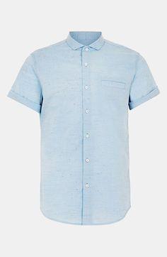 Topman chambray men's  short-sleeve shirt.