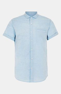 Topman chambray men's  short-sleeve shirt.