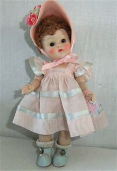 Wonderful 1951 Poodlecut Vogue Ginny Doll #42 Glad Tiny Miss Series All Original