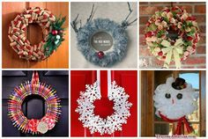 manualidades de coronas navideñas Christmas 2017, Christmas Wreaths, Christmas Crafts, Merry Christmas, Xmas, Christmas Ornaments, Flower Ball, Halloween, Holiday Decor