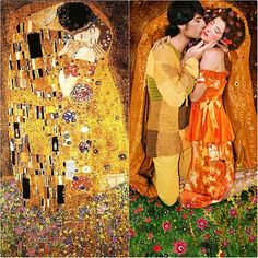 amazing photo recreations of Gustav Klimts finest paintings! you have to see them!