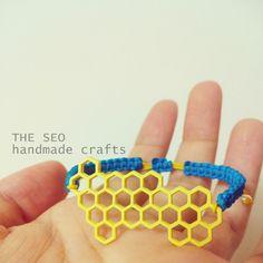 Handmade Sweet Beehive Bracelet (yellow) by the seo handmade crafts on ECPlaza US $7.50