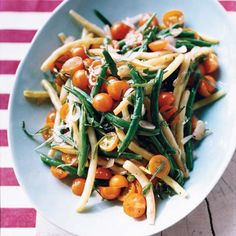 Green Bean-and-Tomato Salad with Tarragon Dressing | This supersimple bean-and-tomato salad, tossed with a tarragon-flavored dressing, is perfect for summertime picnics, like the kind Paul Virant's mother would prepare when he was a child.