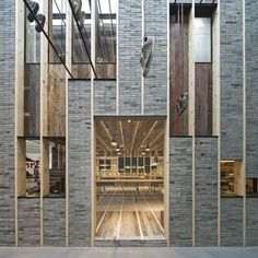 Camper showroom and office interior design by neri and hu, Shanghai 5 Retail Facade, Shop Facade, Building Facade, Building Design, Detail Architecture, Brick Architecture, Interior Architecture, Facade Design, Exterior Design