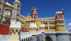Palacio da Pena Notre Dame, Portugal, Louvre, Mansions, House Styles, Building, Travel, Cities, Mansion Houses