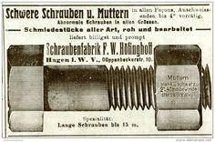 Original-Werbung/ Anzeige 1912 - SCHRAUBENFABRIK HÖFINGHOFF / HAGEN i.W. - ca. 100 x 60 mm