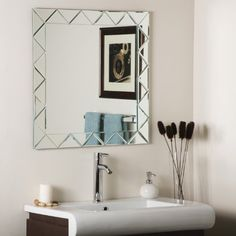 Decor Wonderland Luciano Frameless Wall Mirror * Be sure to check out this awesome product. (This is an affiliate link) #HomeDecorMirrors